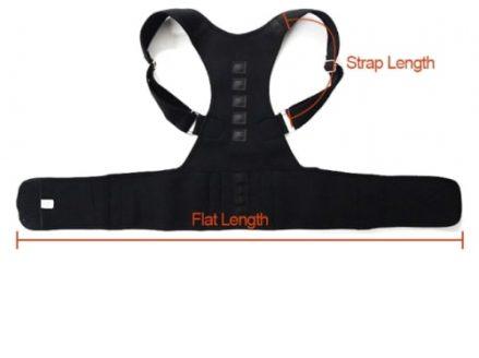 posture corrector back support belt lenght