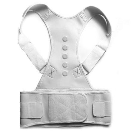 posture corrector back support belt white